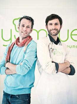 Die zwei Yumwe-Gründer Sven Lorenz und Aurel Bantzer