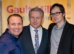 Koch des Jahres: Daniel Achilles mit Tim Raue und K. Wowereit