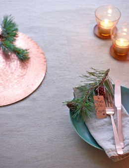 Weihnachtsmenü mit Holunderreh
