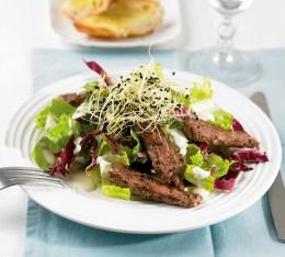 Salat mit Steak
