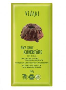 Vegane Kuvertüre aus Reismilch von VIVANI