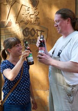 Kulinarische Reise Münster Anne Lucas und Braumeister Friedhelm Langfeld