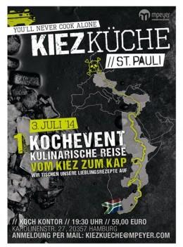Eine kulinarische Reise vom Hamburg St. Pauli zum Kap: Kochevent Kiezküche