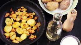 Knusprig müssen sie sein, die perfekten Bratkartoffeln.
