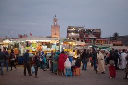 Marrakesch Markt Djemaa el Fna gross