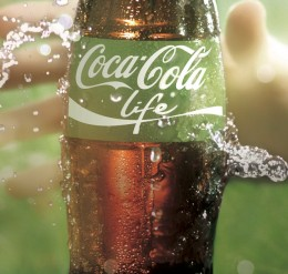 gekühlte Coca-Cola-life Flasche