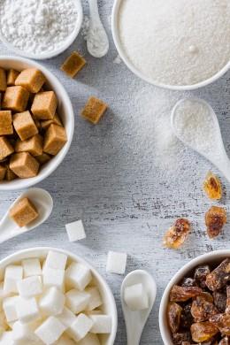 verschieden Zuckersorten, Low Carb
