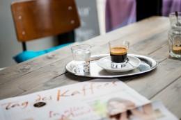 Glas Espresso Tag des Kaffees 2015