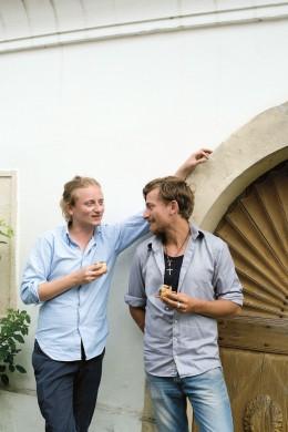 Brüder Leo und Karl Wrenkh Autoren des Kochbuchs Vom Glück gemeinsam zu essen