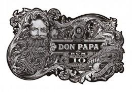 Flaschen-Label Don Papa Rum 10 Jahre