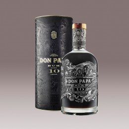 Don Papa Rum 10 Jahre Flasche mit Verpackung