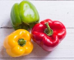 Paprika, rot, gelb, grün, Paprikaampel