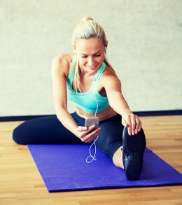 App, mobiler Helfer beim Sport, Sport, stretchen, Strech-Übungen