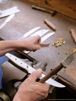Hesrtellung eines Messers der Manufaktur Windmühlenmesser