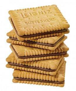 125 Jahre Leibniz Butterkeks, Keks'n Cream, Geburtstag, Jubiläum, Keks, Gebäck, Neuheit, neu, Keksstapel