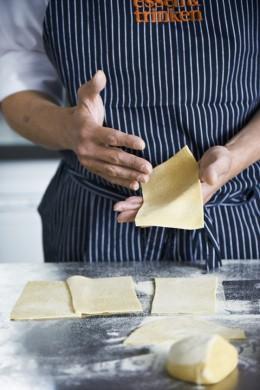 Lasagne, Teig, Teigplatten schneiden