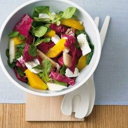 Salate mit Birne