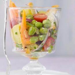 Sommersalat mit dicken Bohnen