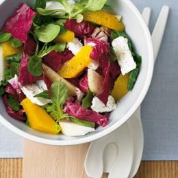 Orange im Salat