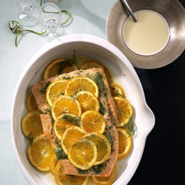 Lachs auf Orange