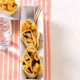 pikantes haehnchen mango roellchen