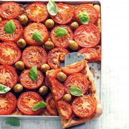 Tomatemjuchen vom Blech