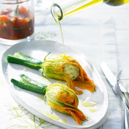 Gemüse-Tatar mit Ricottacreme