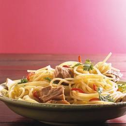 Spaghetti mit Tunfisch