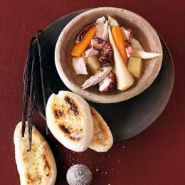 Hühner-Tintenfischeintopf mit Vanille