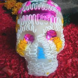 Totenkopf aus Zucker am Dia de los muertos
