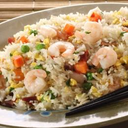 Reis wird in der Jiangsu Küche oft als Bratreis zubereitet