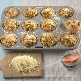 Muffins mit Lauch und Käse