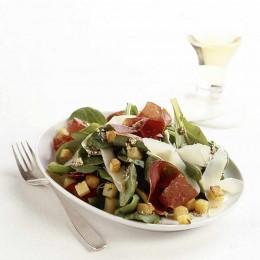 Lauwarmer Feldsalat mit Sesam
