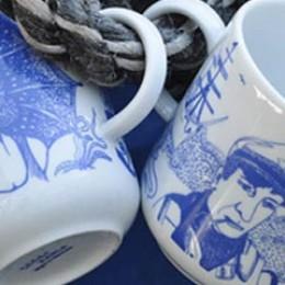 Lona und Piet, Motive auf maritimen Tassen