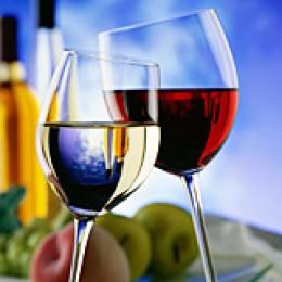 Weiss- und Rotweinglas