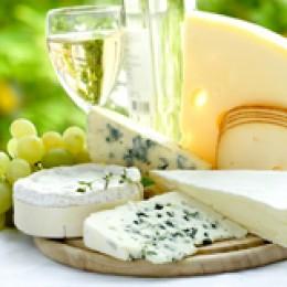 Weisswein und Käse