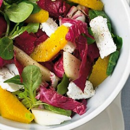 Radicchio-Birnen-Salat mit Orange