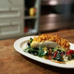 Einfach lecker, Anne Lucas, Fisch mit Curry-Kräckerkruste