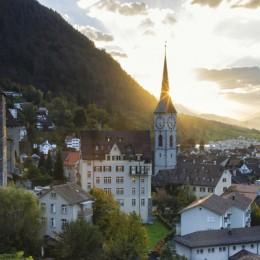 Chur in Graubünden, Schweiz