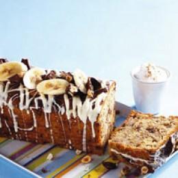 Schokoladenkuchen, Kuchen, Kastenkuchen, Bananenkuchen, Banane