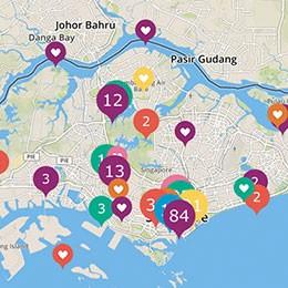 Interaktive Karte Singapur mbb