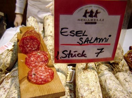 Esel-Salami aus Italien ist mild und zugleich äußerst aromatisch.