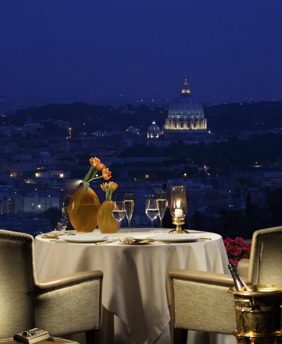 Blick vom Restaurant La Pergola