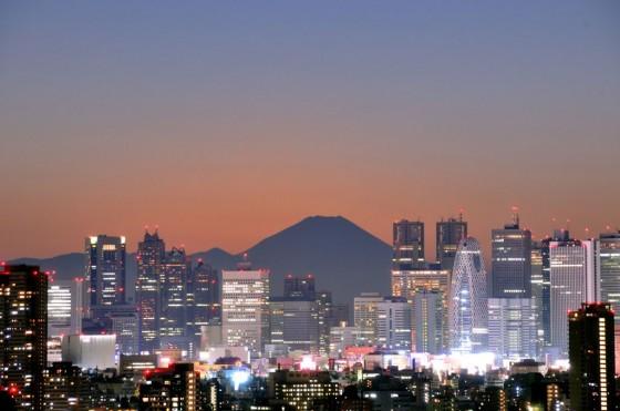 Tokio mit Fuji