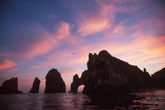 """Formaciones Rocosas """"el Arco"""" Al Atardecer, Cabo San Lucas"""