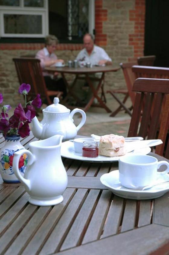Afternoon Tea in the Courtyard Tearoom.