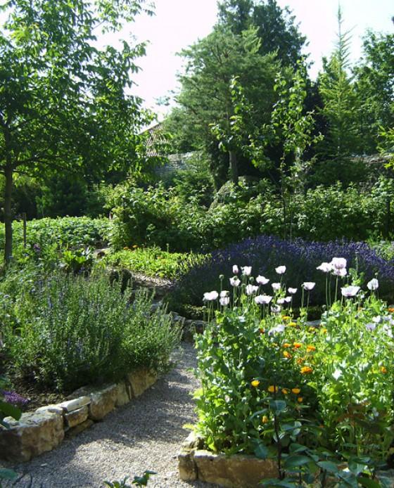 Garten im Weingut Bernhard Räder