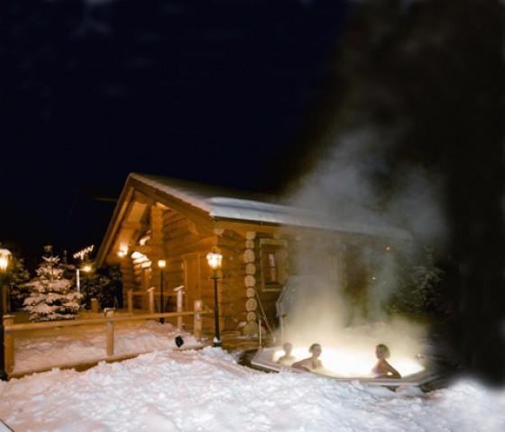 Außenbereich im Alpenhof Hotel