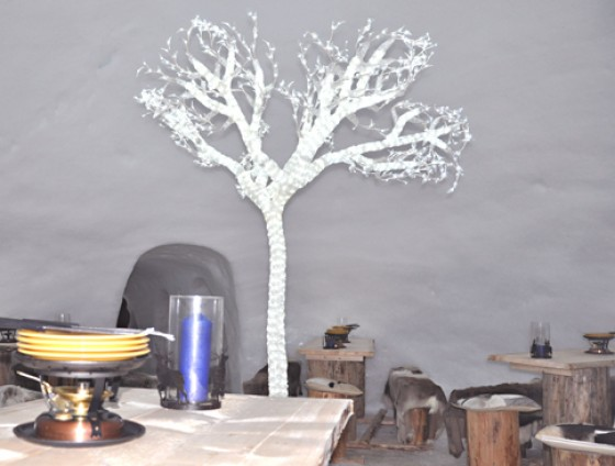 Schneedorf in Leysin