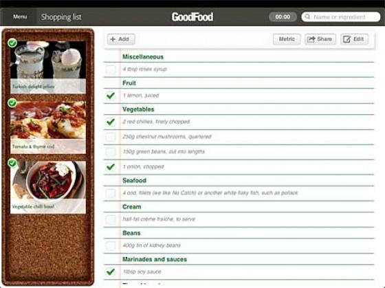 Good Food App Einkaufsliste